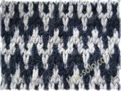 узоры ленивого жаккарда - knit-solo.com